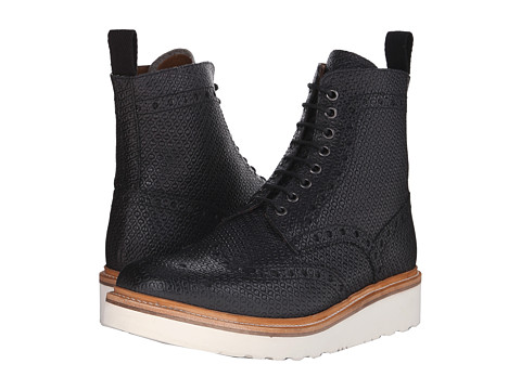 Grenson - Fred V (Black Escher Calf) Men's Boots