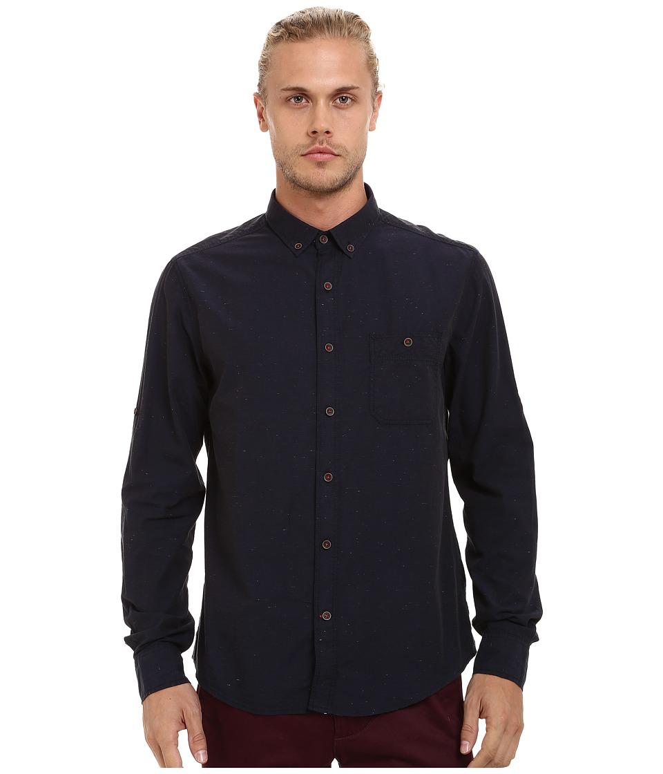Mavi Jeans - Folded Sleeve Shirt (Total Eclipse) Men's Clothing