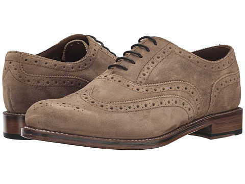 Grenson - Stanley (Dark Brown Vintage Suede) Men's Lace Up Wing Tip Shoes