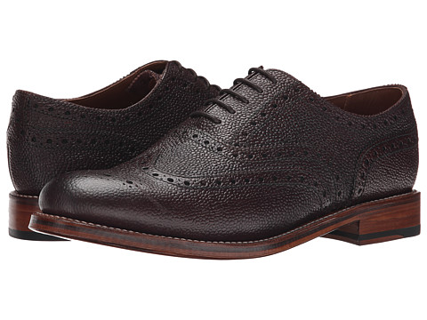 Grenson - Stanley (Burgundy Country Grain) Men's Lace Up Wing Tip Shoes