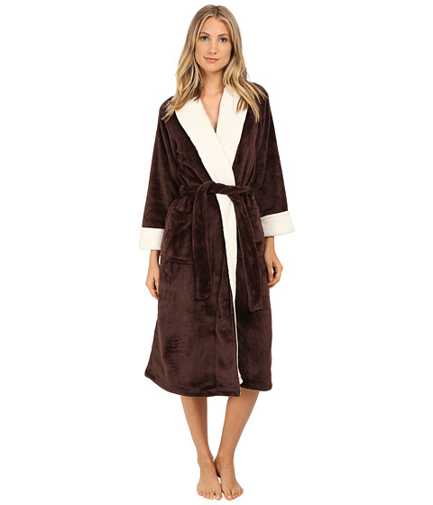 N by Natori - Cashmere Fleece Robe (Chocolate) Women