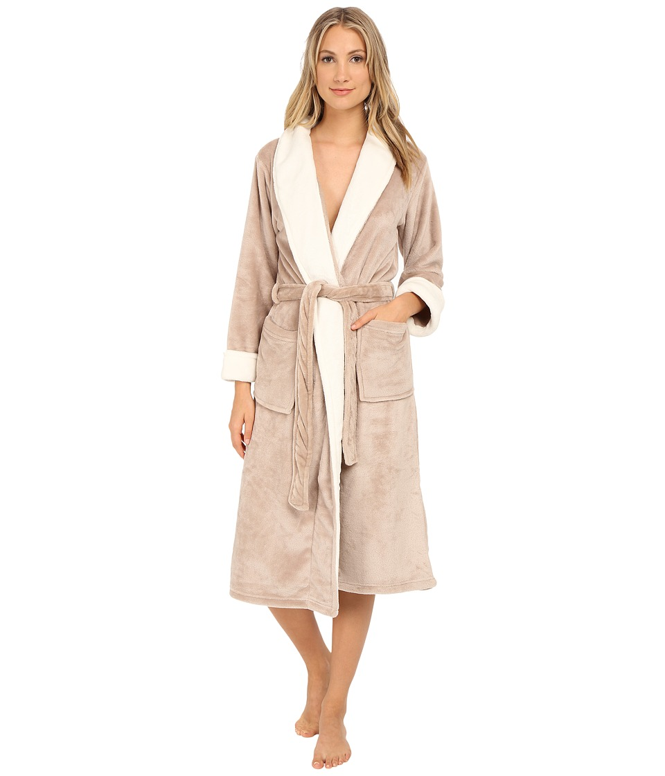 N by Natori - Cashmere Fleece Robe (Champagne) Women's Robe