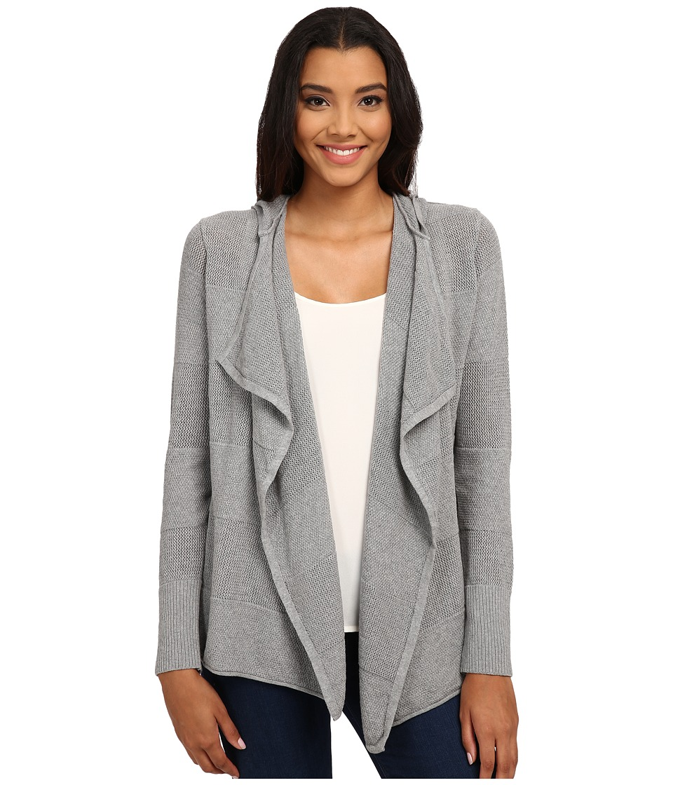 Mavi Jeans - Zip Detailed Open Cardigan w/ Hoodie (Dark Grey Melange) Women's Sweatshirt