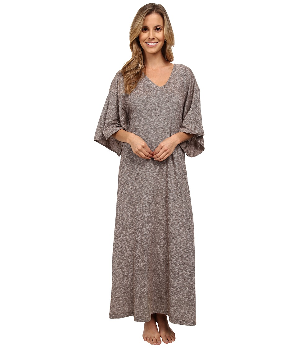 N by Natori - Slub Jersey Caftan (Mahogany) Women's Dress