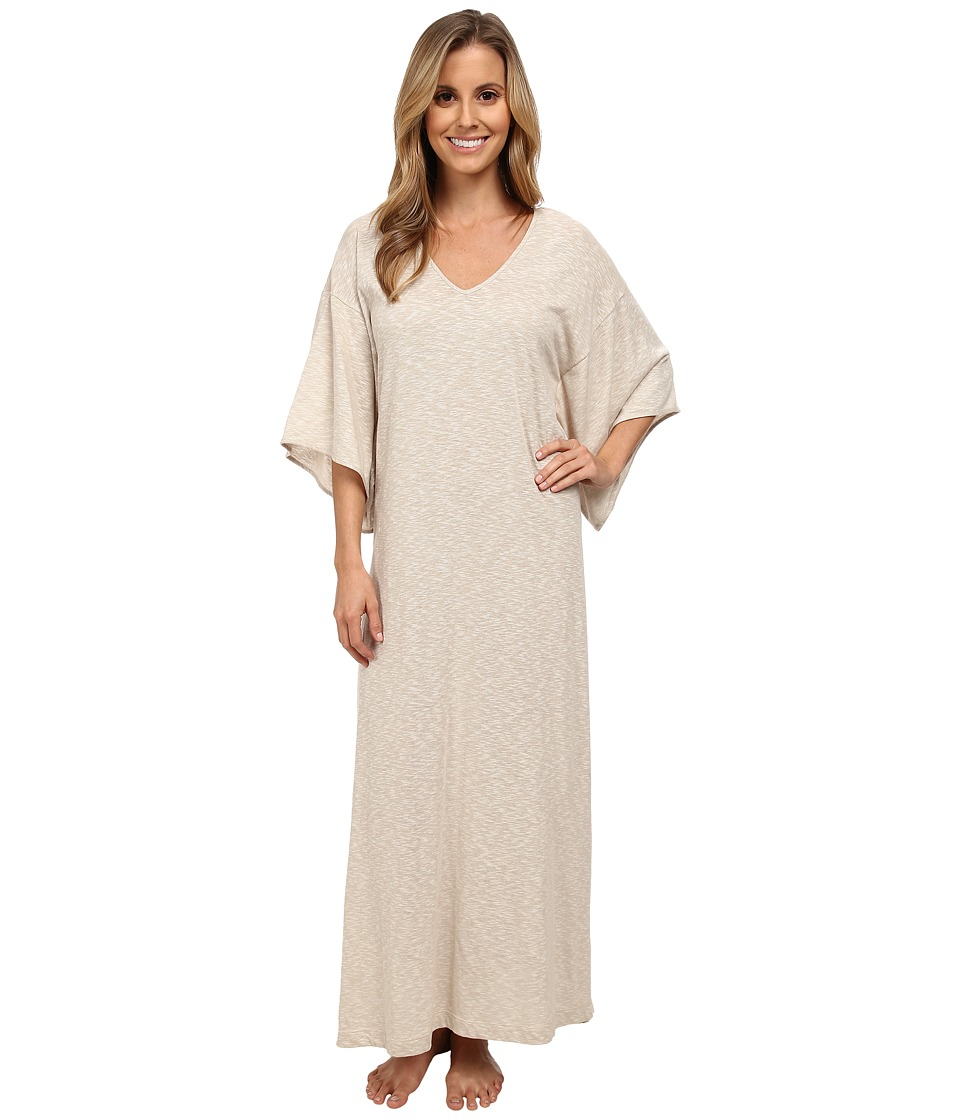 N by Natori - Slub Jersey Caftan (Champagne) Women's Dress