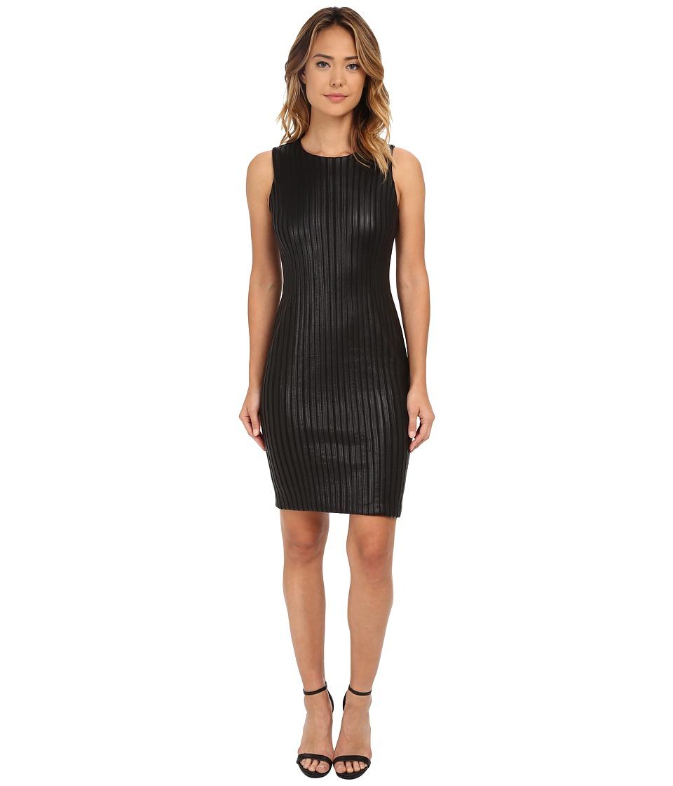 Calvin Klein - Sheath w/ Piping Detail (Black) Women's Dress