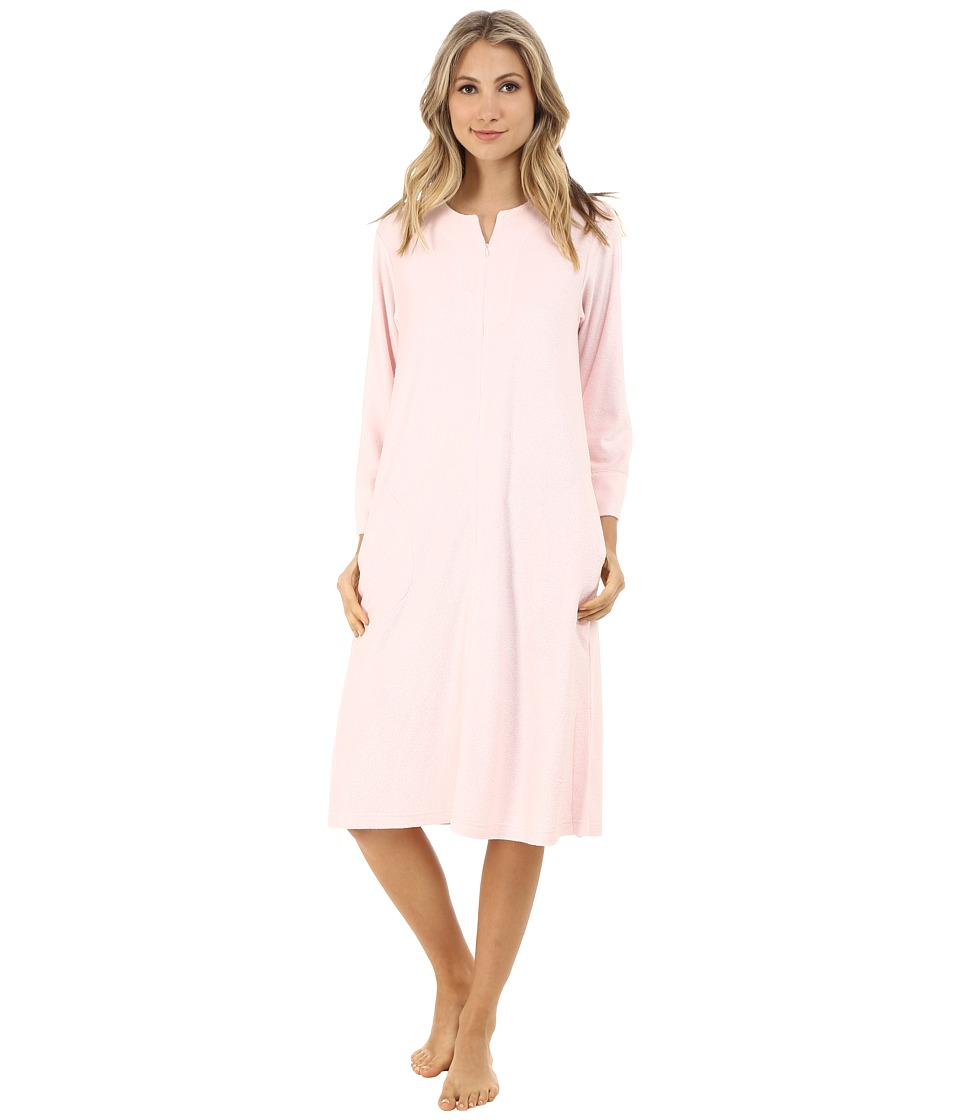 N by Natori - Zip Caftan (Blush) Women's Pajama