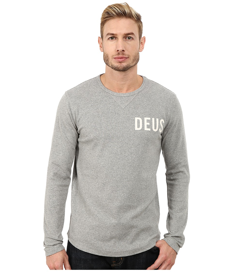 Deus Ex Machina - Jake Long Sleeve Tee (Grey Marle) Men's T Shirt