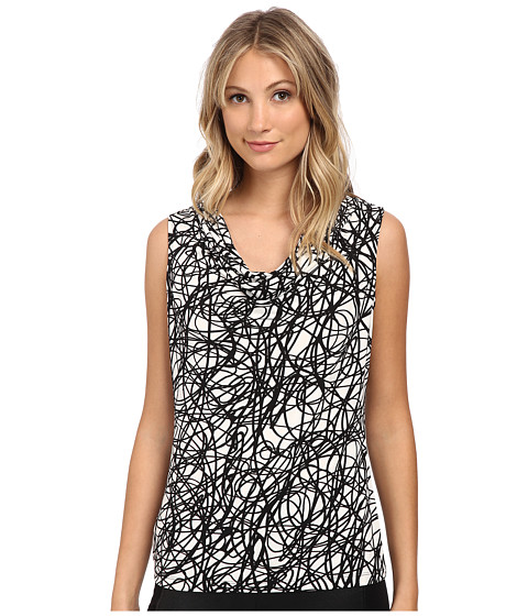 Calvin Klein - Print Cowl Neck Top (String) Women
