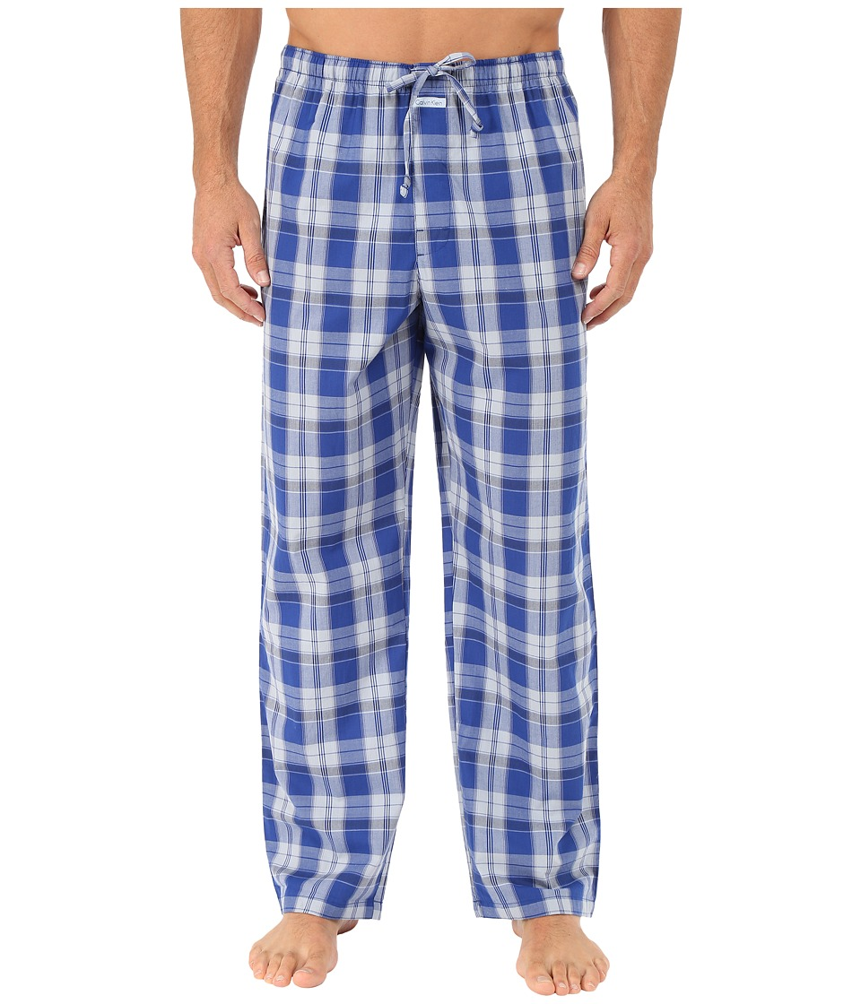 Calvin Klein Underwear - Key Item Pants (Alex Plaid/Blue Monument) Men's Pajama