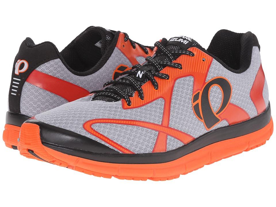 Pearl Izumi - EM Road N2 v3 (Silver/Red Orange) Men's Running Shoes