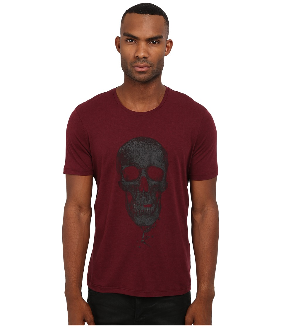 The Kooples - Tencel Cotton Jersey T-Shirt (Burgundy) Men