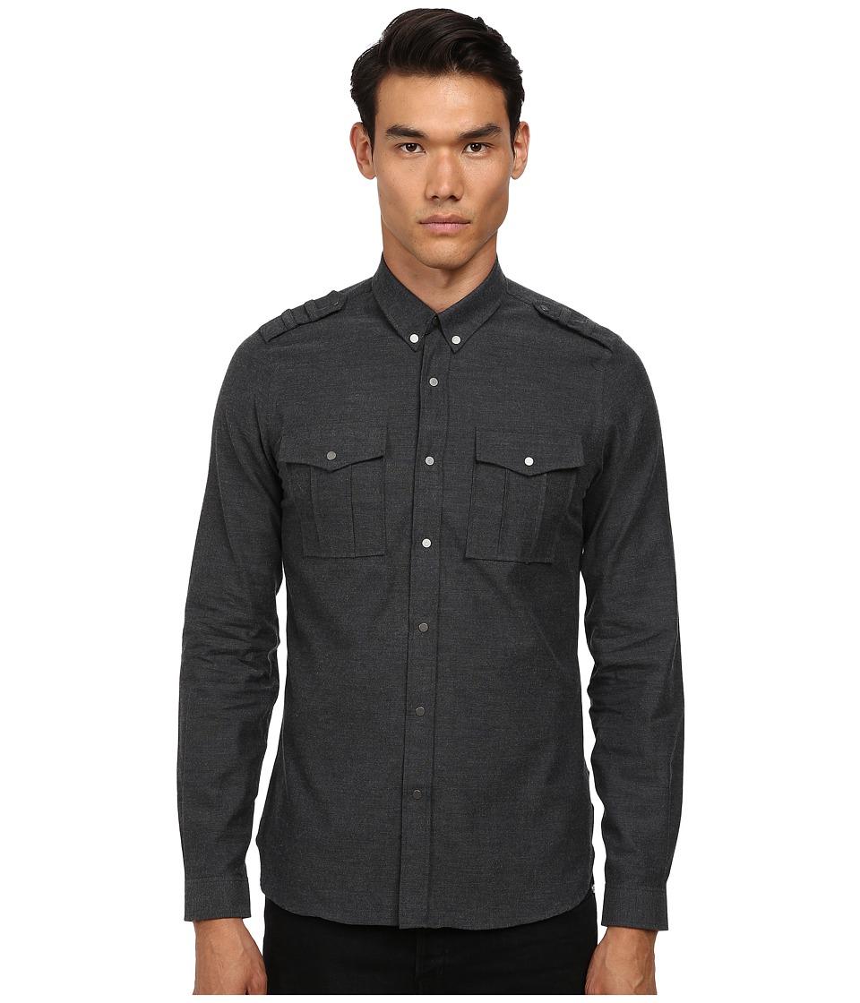 The Kooples - Melton Flanelle Shirt (Grey) Men