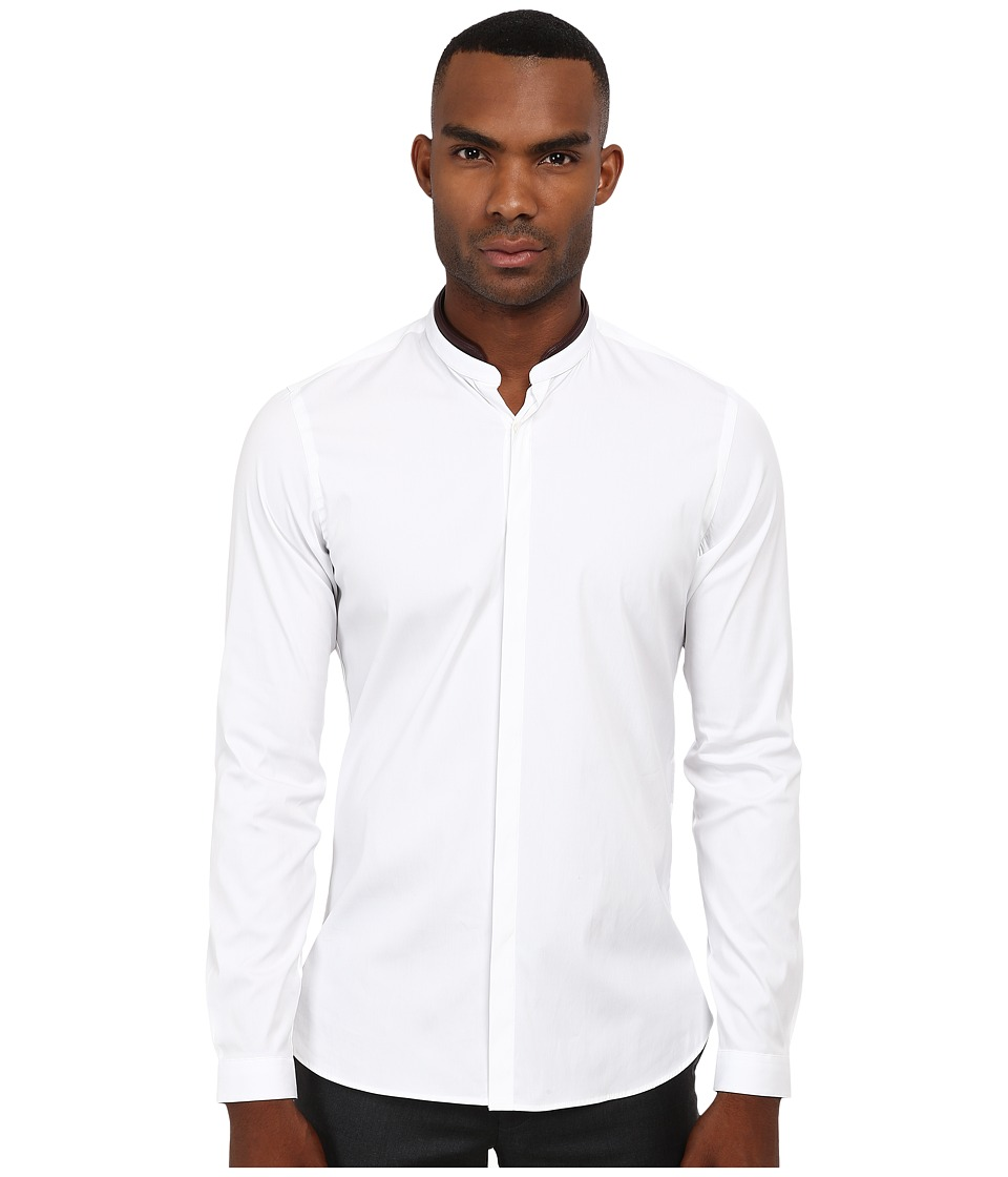 The Kooples - Paper Popeline Shirt (White) Men's Long Sleeve Button Up