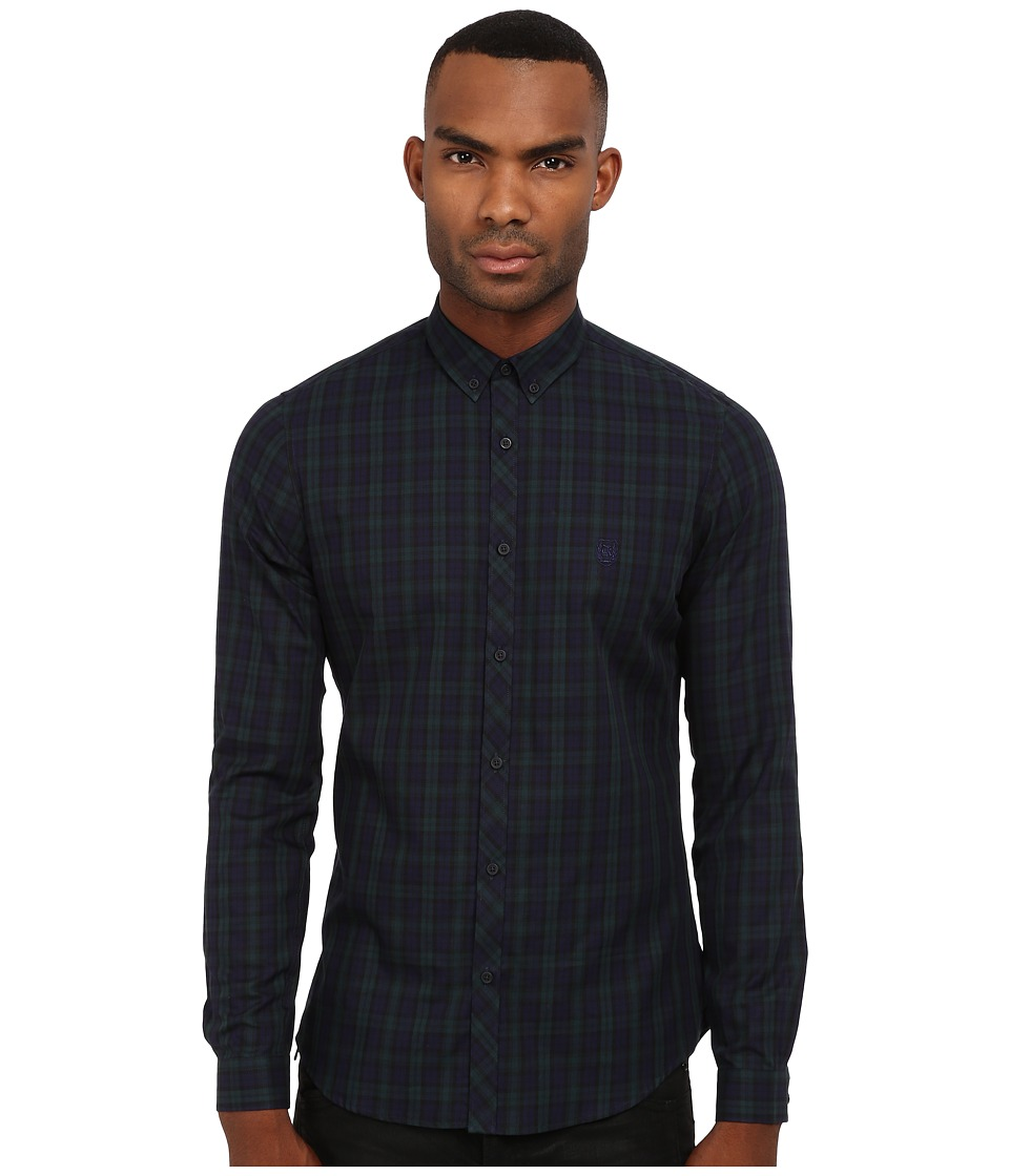 The Kooples - Sport Irish Checks Button Up (Navy) Men's Clothing