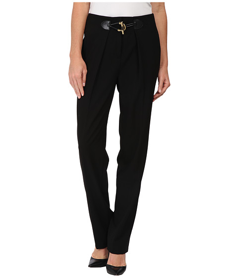 Calvin Klein - Pants w/ Large Toggle (Black) Women