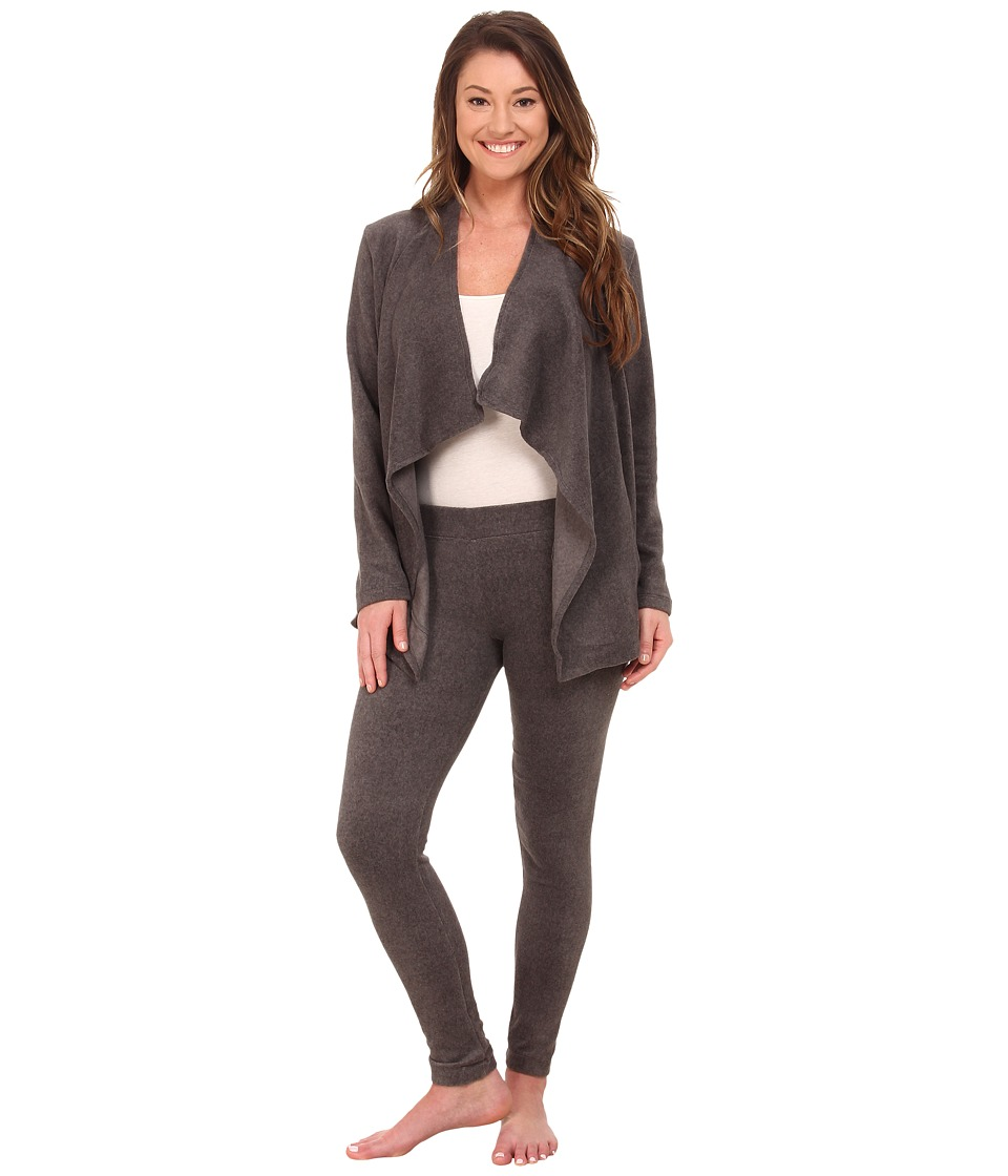 DKNY - Group Long Sleeve Cozy and Leggings Set (Charcoal Heather) Women's Pajama Sets