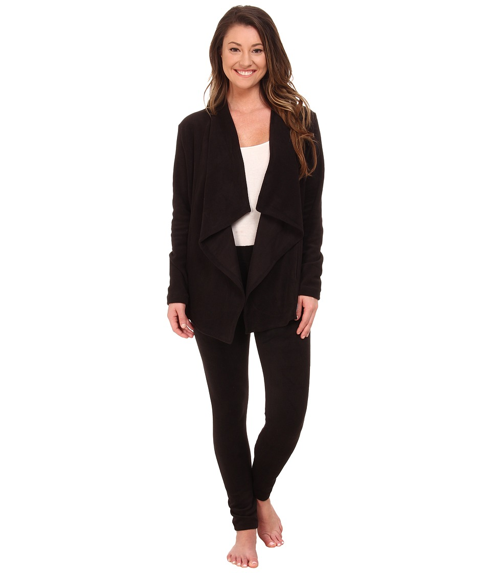 DKNY - Group Long Sleeve Cozy and Leggings Set (Black) Women's Pajama Sets