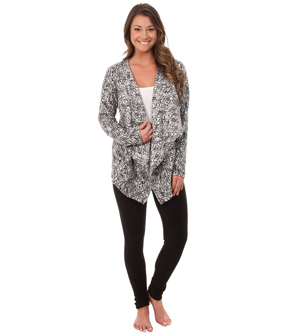 DKNY - Group Long Sleeve Cozy and Leggings Set (Charcoal Animal) Women