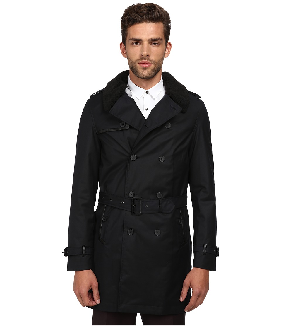 The Kooples - Sport New Technical Bonded Mac (Navy) Men's Coat