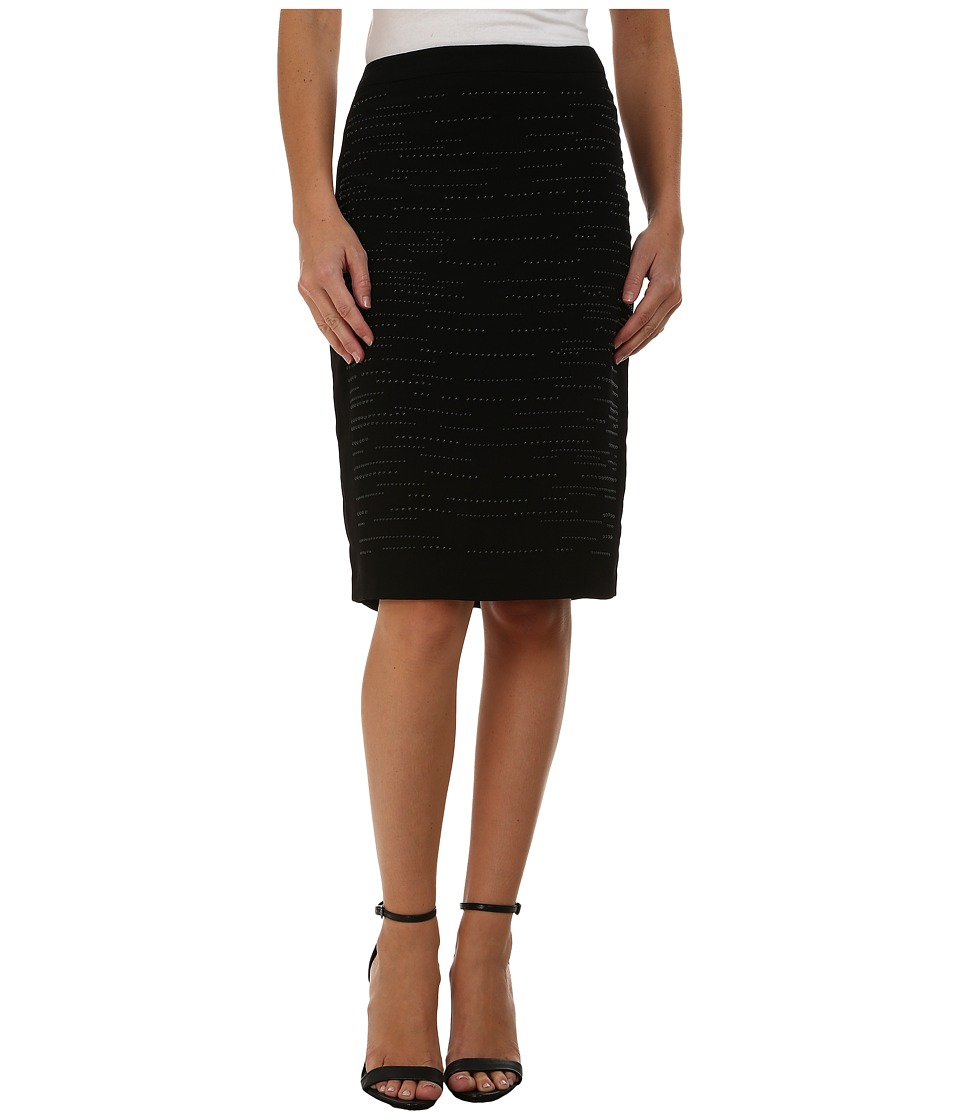 Calvin Klein - Pencil Skirt w/ Heatfix (Black) Women