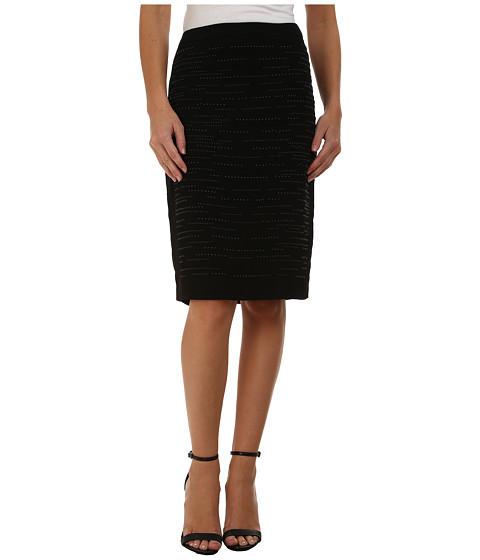 Calvin Klein - Pencil Skirt w/ Heatfix (Black) Women