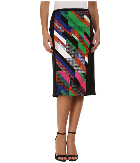 Calvin Klein - Print Block Pencil Skirt (Fern Combo) Women's Skirt