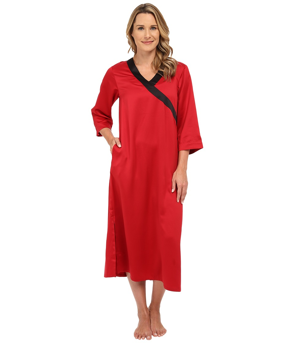 N by Natori - Solid Charm Caftan (Brick) Women's Robe