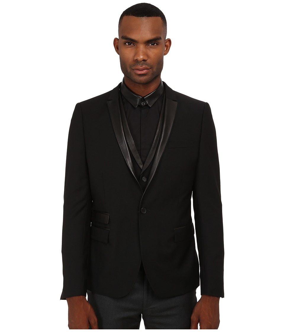 The Kooples - Mohair Suit Fitted Blazer (Black) Men's Jacket