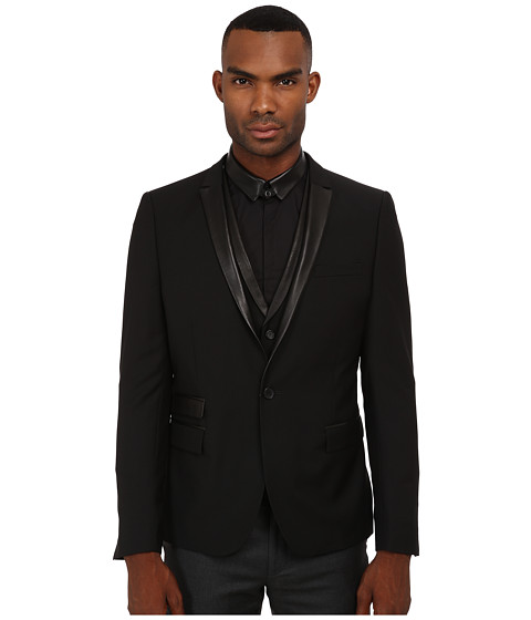 The Kooples - Mohair Suit Fitted Blazer (Black) Men
