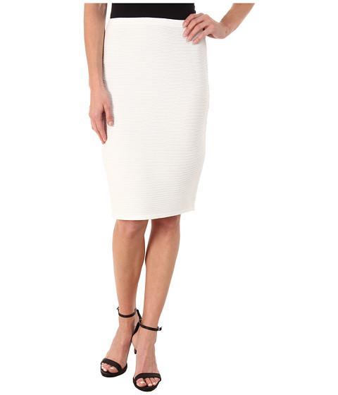 Calvin Klein - Ribbed Sweater Skirt (Soft White) Women's Skirt