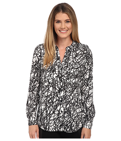 Calvin Klein - Print Crew Neck Roll Sleeve (String) Women