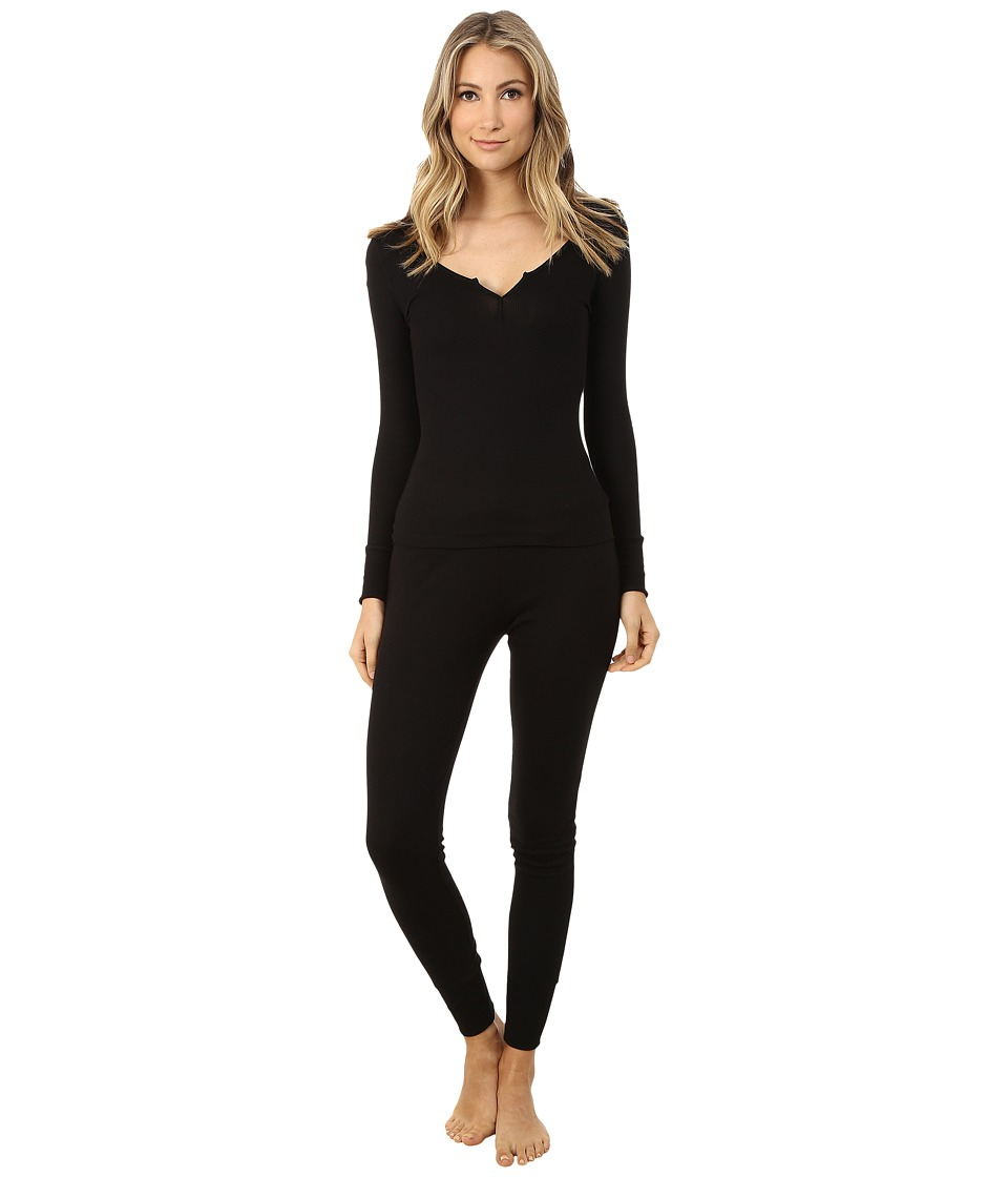 Josie - Ribbed PJ (Black) Women's Pajama Sets