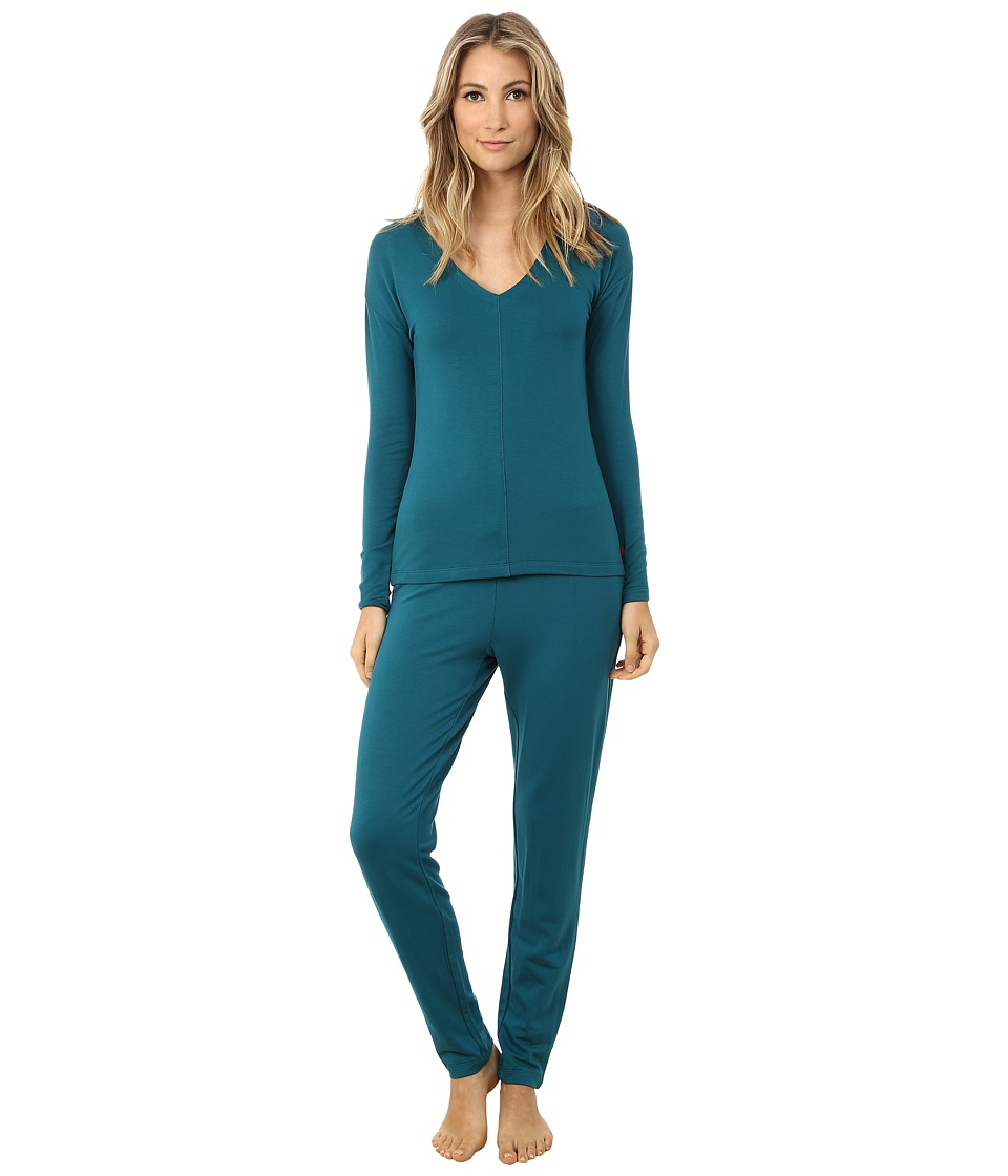 Josie - Brushed Jersey PJ (Deep Jade) Women's Pajama Sets