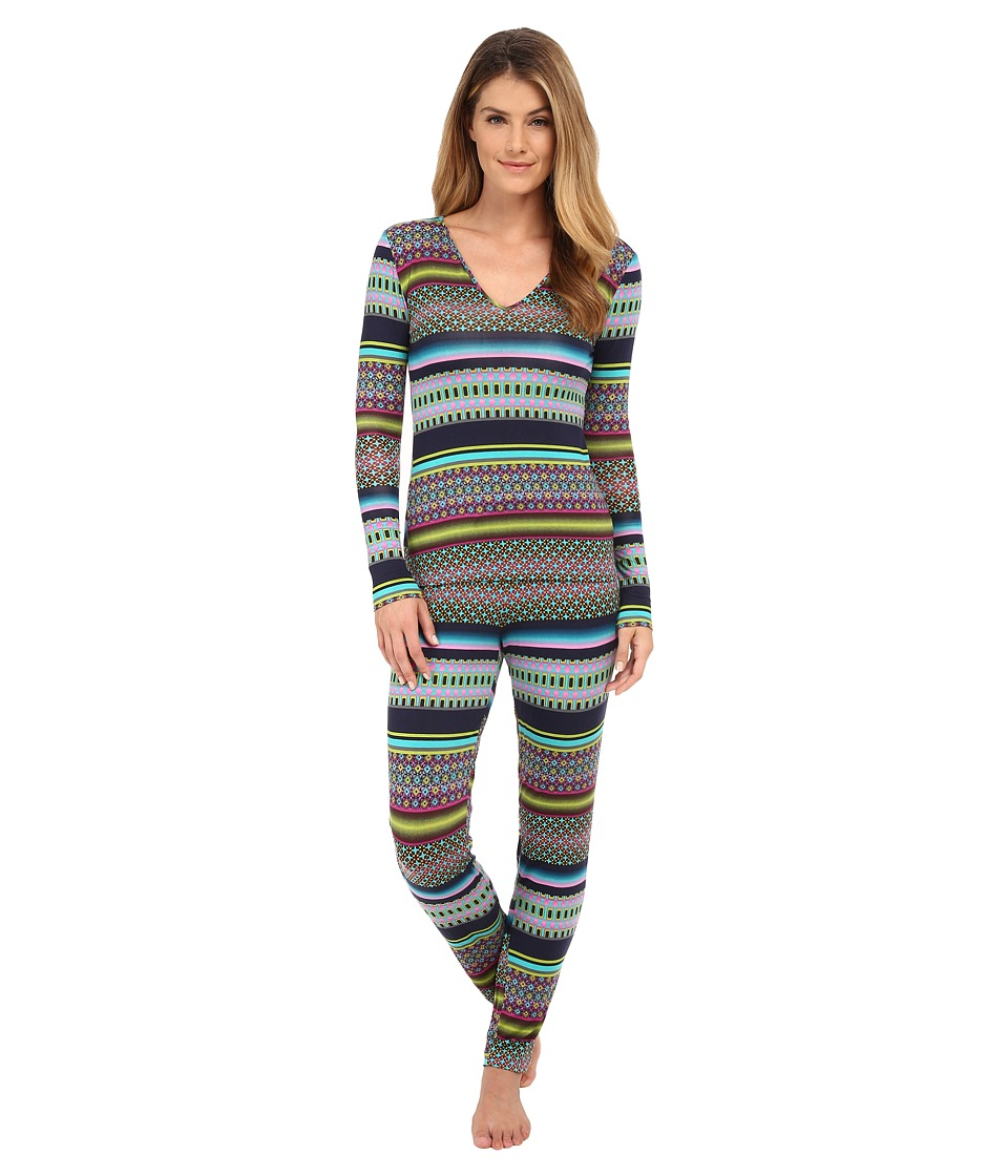 Josie - Jewel Road PJ (Green Multi) Women's Pajama Sets