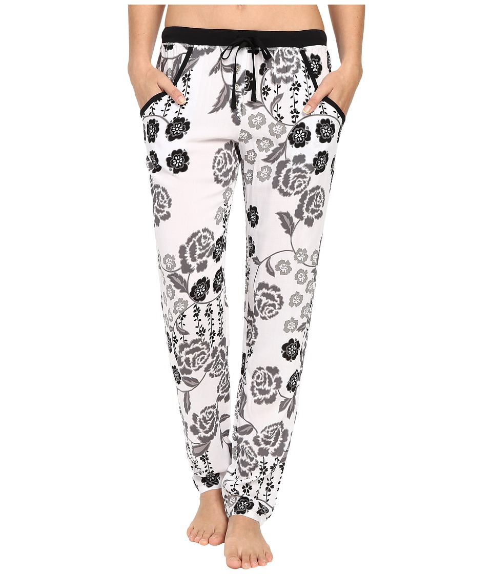 Josie - Lovely Roses Pants (Lovely Roses Black/White) Women's Pajama