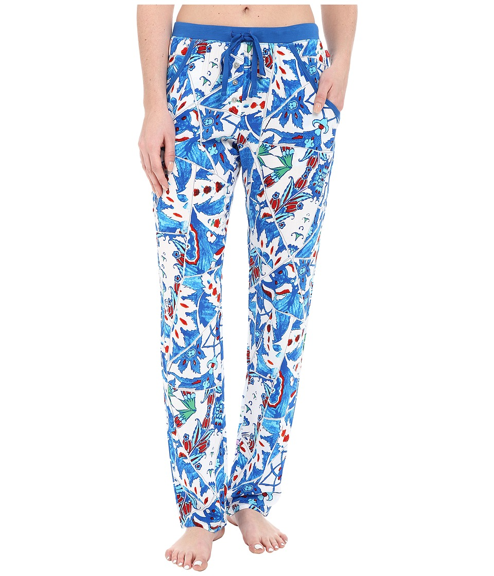 Josie - Broken Tiles Pants (Blue) Women's Pajama