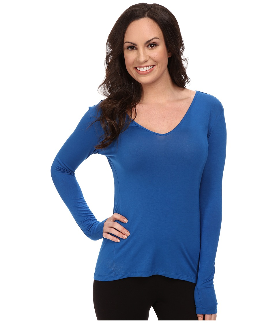 Josie - Josie Tees Long Sleeve Top (Festive Blue) Women's Pajama