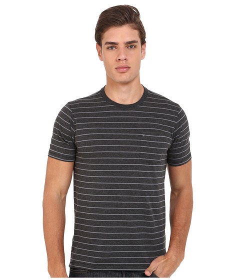 Hurley - Dri-Fit Edwards Crew (Black Heather) Men's Clothing