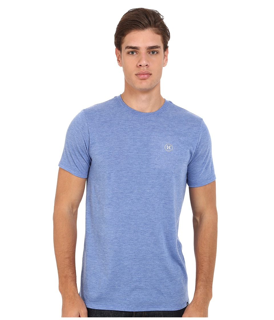 Hurley - Staple Dri-Blend Tee (Heather Sports Blue) Men's Short Sleeve Pullover
