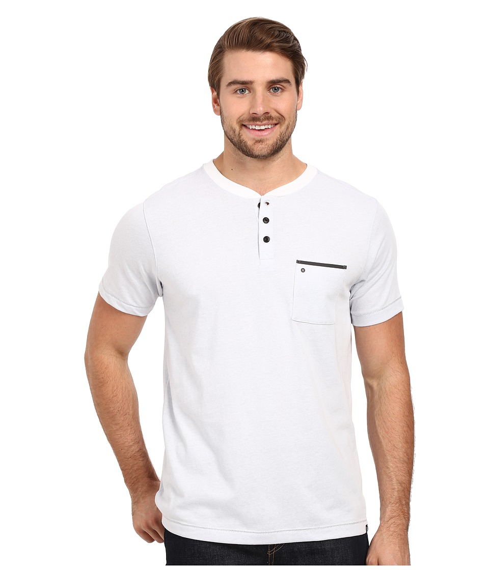 Hurley Dri-Fit S/S Knit Henley (White) Men