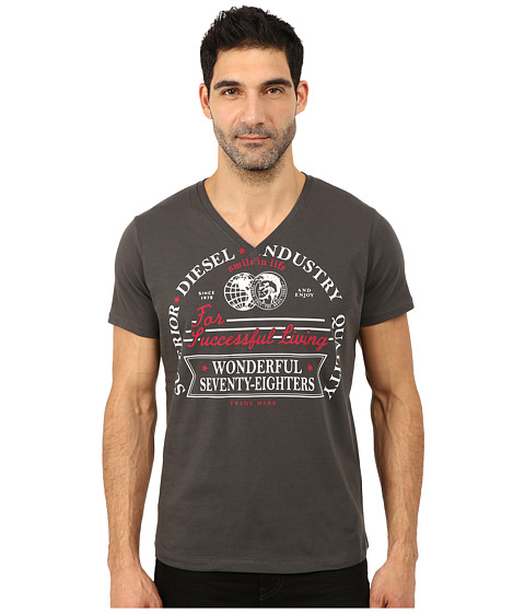 Diesel - Moselle Tee (Grey) Men's T Shirt