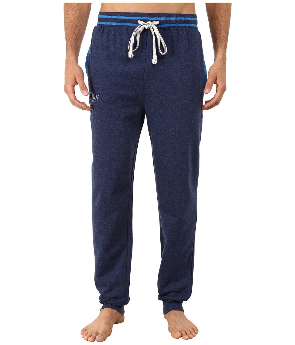 Kenneth Cole Reaction - Fleece Back Jersey Cuffed Pants (Medieval Blue) Men's Pajama