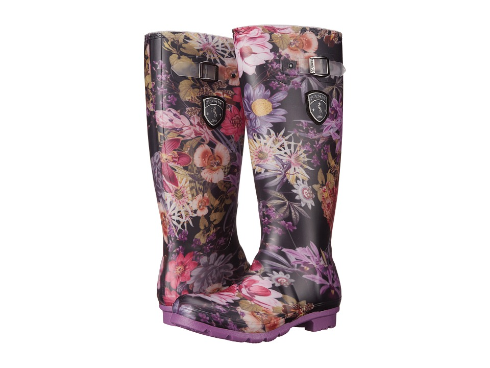 Kamik - Orchid (Black/Purple) Women's Rain Boots