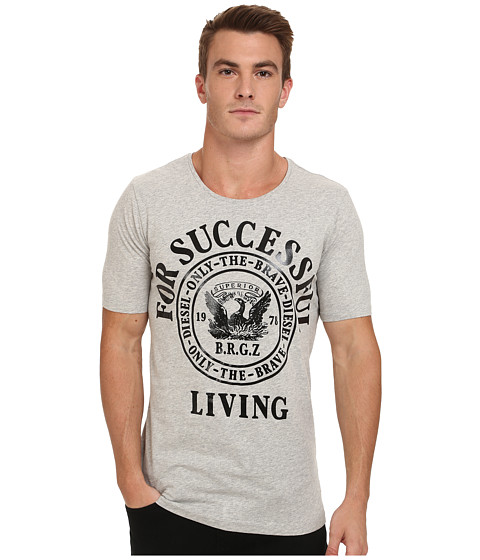 Diesel - Webmar Tee (Light Grey Melange) Men