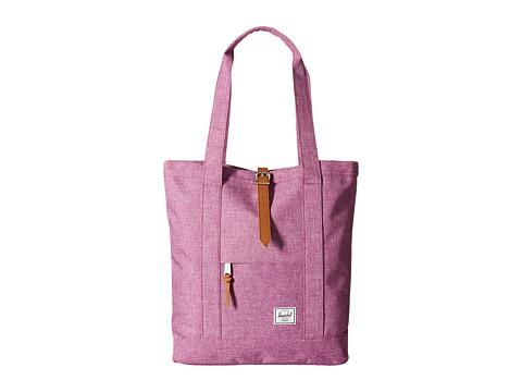 Herschel Supply Co. - Market (Fuchsia Crosshatch/Tan PU) Tote Handbags