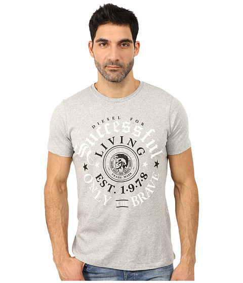 Diesel - Thrial Tee (Light Grey Melange) Men's T Shirt