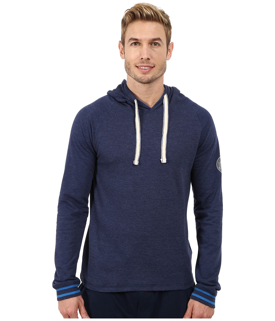 Kenneth Cole Reaction - Sleep Hoodie (Medieval Blue) Men's Pajama
