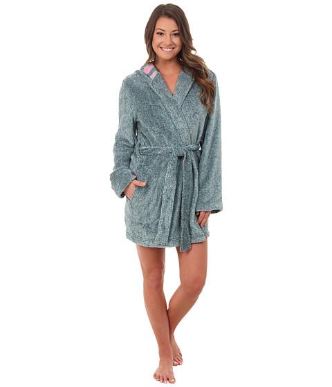 Jane & Bleecker - Two-Tone Plush Flannel Robe 3541069 (Spruce) Women