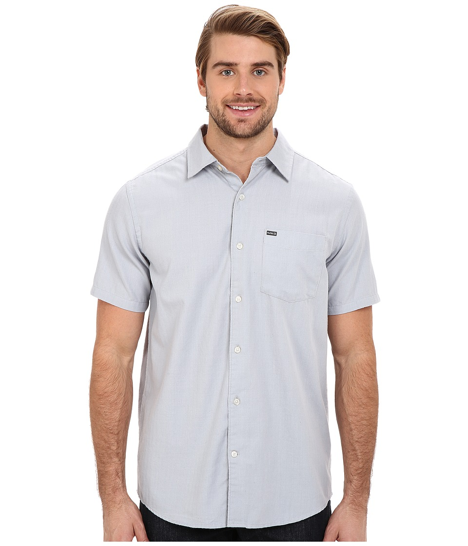 Hurley - One And Only 2.0 S/S Woven (Wolf Grey) Men's Short Sleeve Button Up